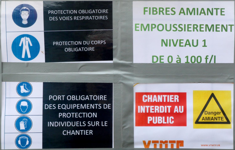 Affichage de sécurité - Chantier sur l'île de loisirs le 22 janvier 2016